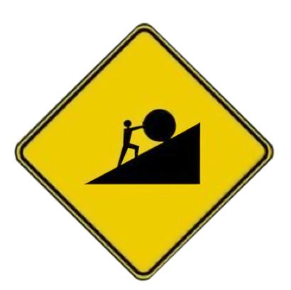 sisyphus street sign
