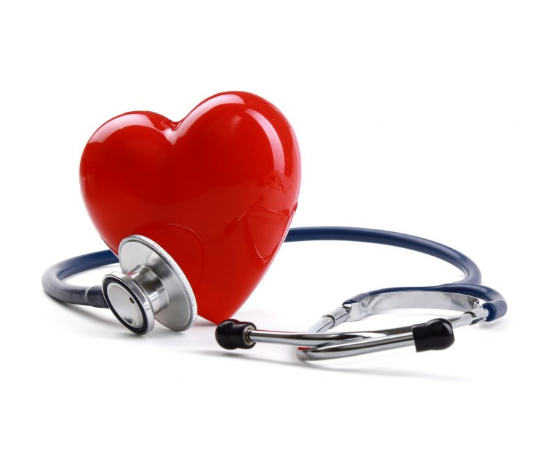 heart with stethoscope